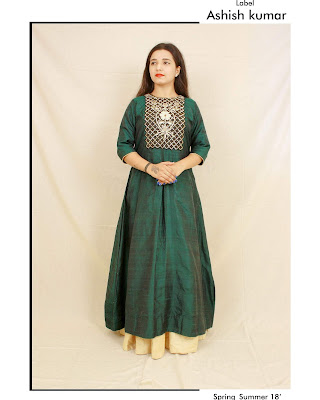 Top 5 Indian ethnic wear dresses 2019 for girls by label Ashish kumar