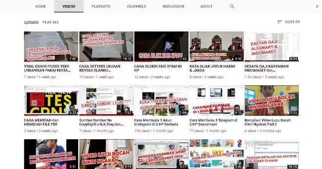 Contoh Kata Deskripsi Video Channel Youtube Yang Keren Kosngosan
