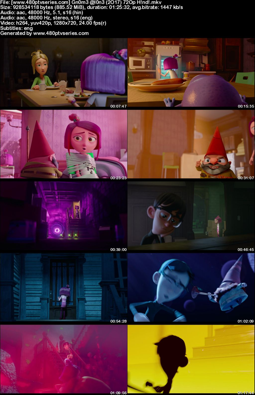 Watch Online Free Gnome Alone (2017) Full Hindi Dual Audio Movie Download 480p 720p Web-DL