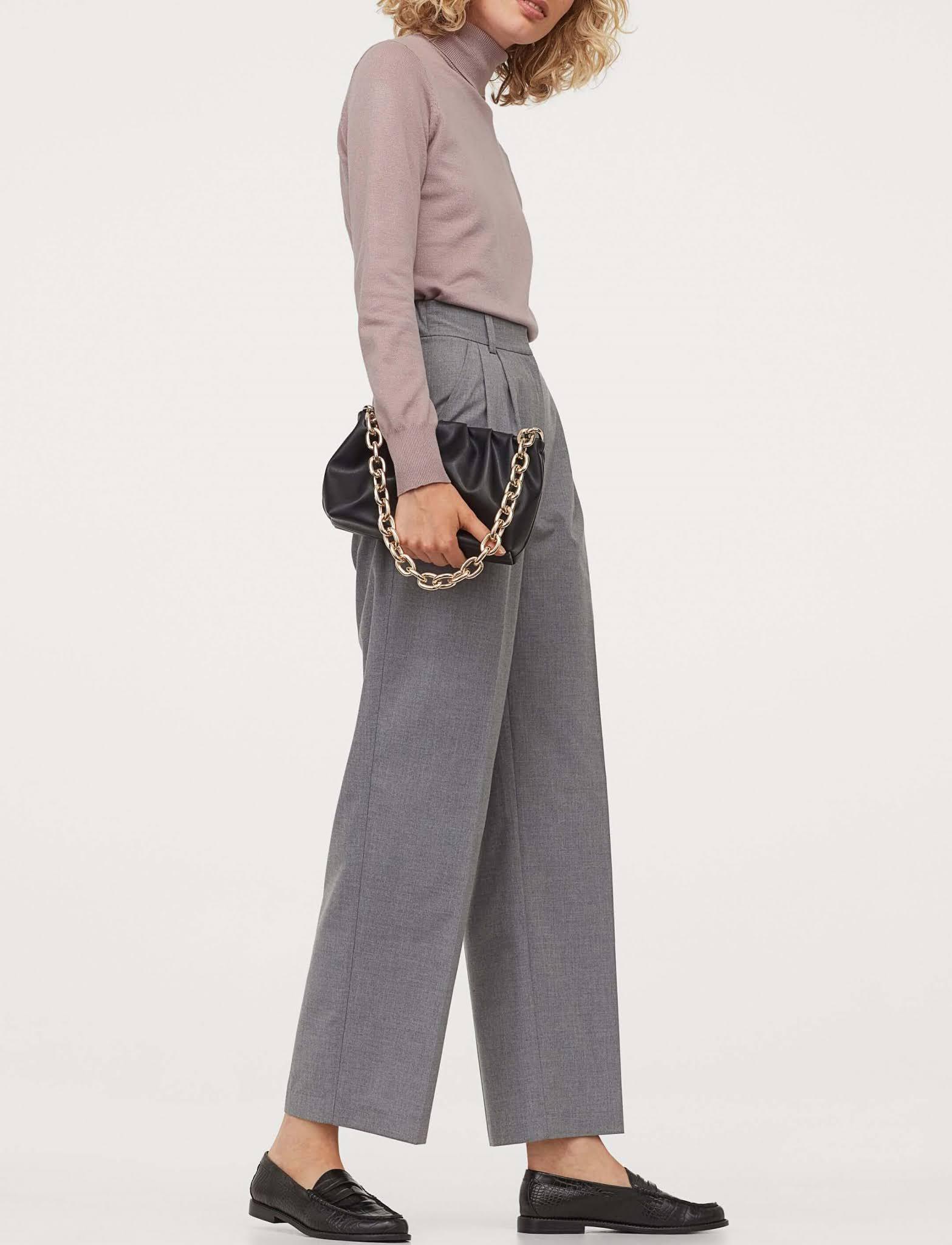 wide-leg suit pants