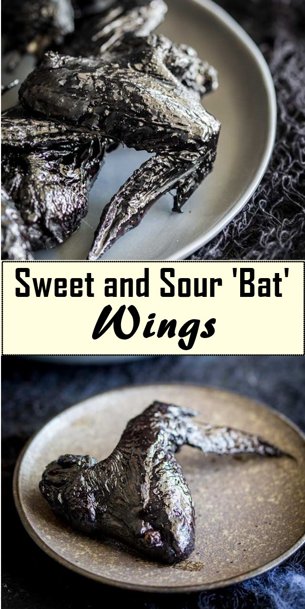 Sweet and Sour 'Bat' Wings #halloweenrecipes