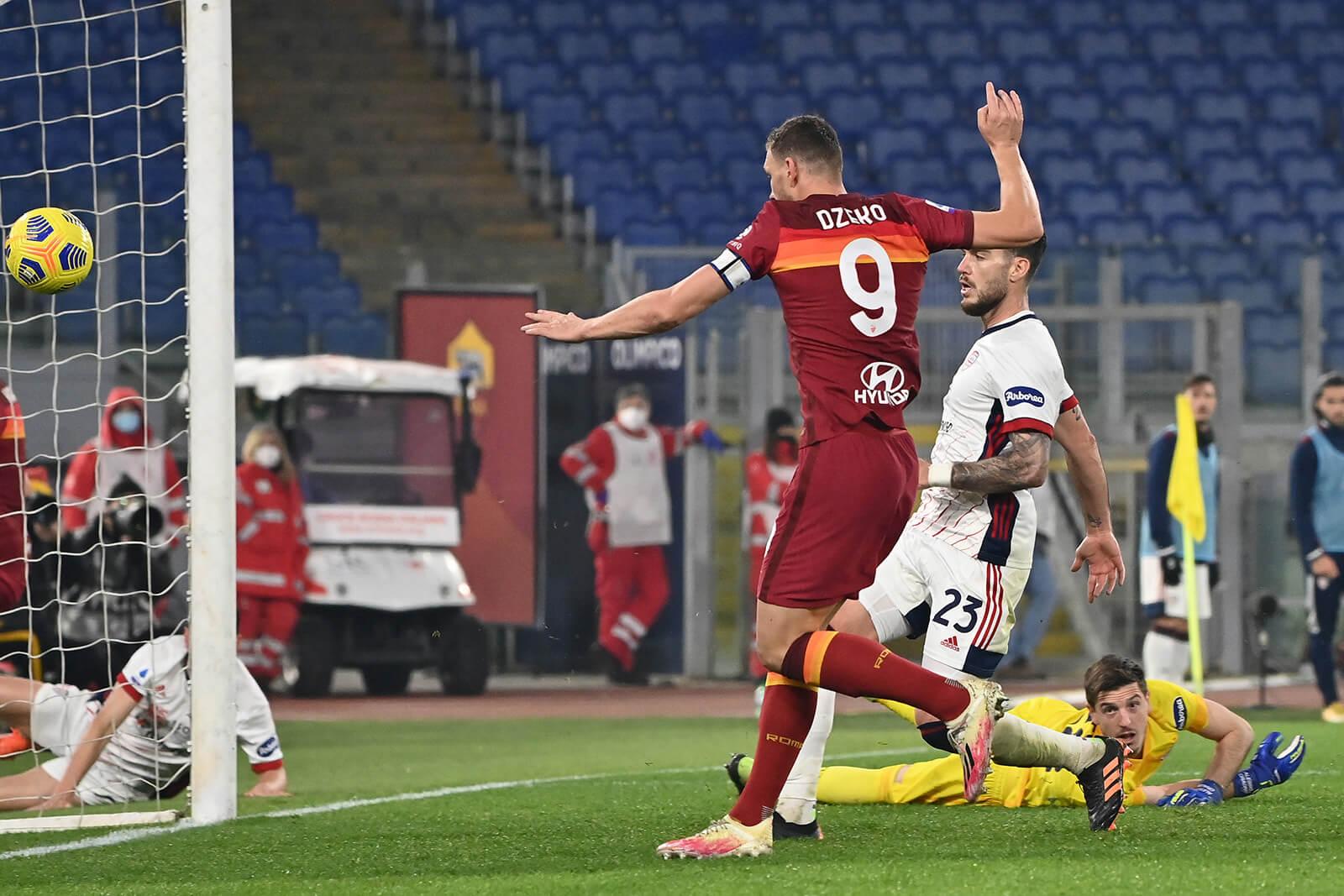 ملخص واهداف مباراة روما وكالياري (3-2) الدوري الايطالي