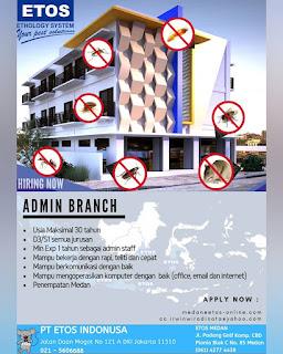 Admin branch di PT Etos Indonusa