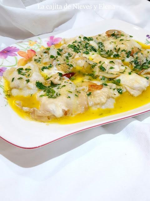 Cocochas de bacalao en salsa verde