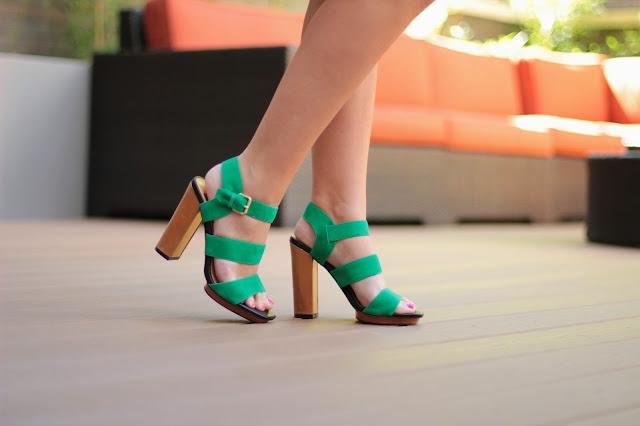 dolce vita green heels, dolce vita heels, dolce vite sandals, dolce vita green