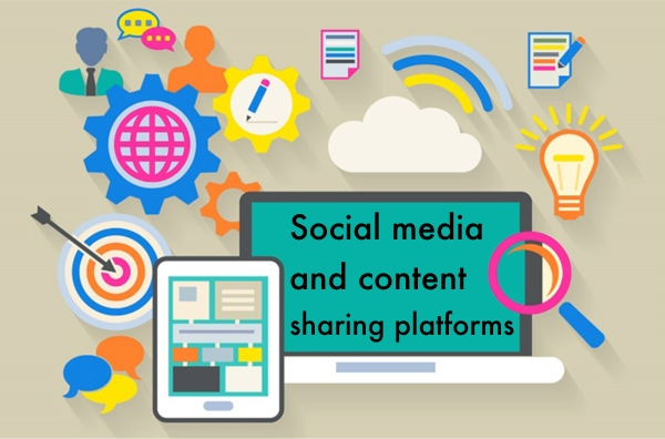 Social media and content sharing platforms