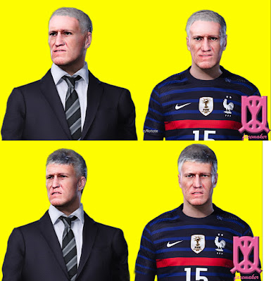 PES 2021 Faces Didier Deschamps by Qiya
