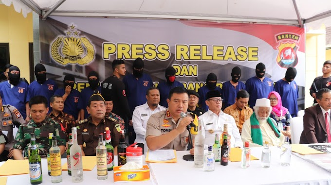 Rilis Akhir Tahun 2019, Polda Banten Sukses Ungkap Berbagai Kasus Kejahatan