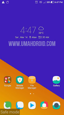 Tampilan Safe Mode HP Asus Zenfone