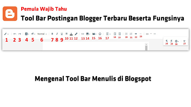 Tool Bar Postingan Blogger Terbaru Beserta Fungsinya - Mengenal Tool Bar Menulis di Blogspot