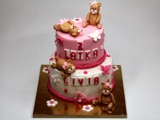 Teddies Birthday Cake for Girl - Celebration Cakes in London