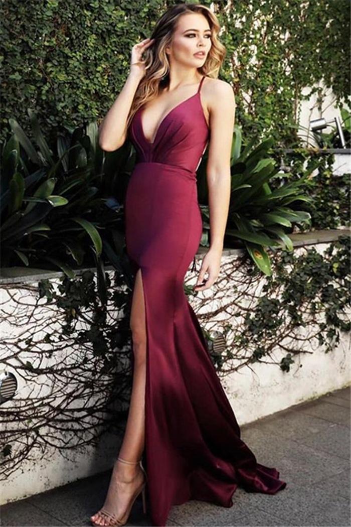 https://www.27dress.com/p/spaghetti-straps-burgundy-side-slit-cheap-sleeveless-sheath-evening-dress-109375.html
