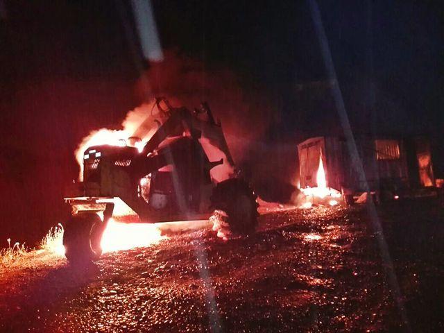 Ataque incendio en la comuna de Río Negro