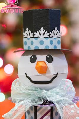 3d Snowman head