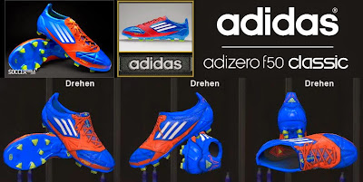 PES 2014 Adidas F50 adizero miCoach Leather - Blue/White/Energy