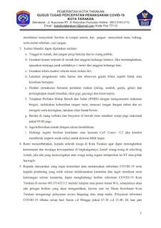 Press Release COVID-19 Tarakan 27 Juni 2020 - Tarakan Info