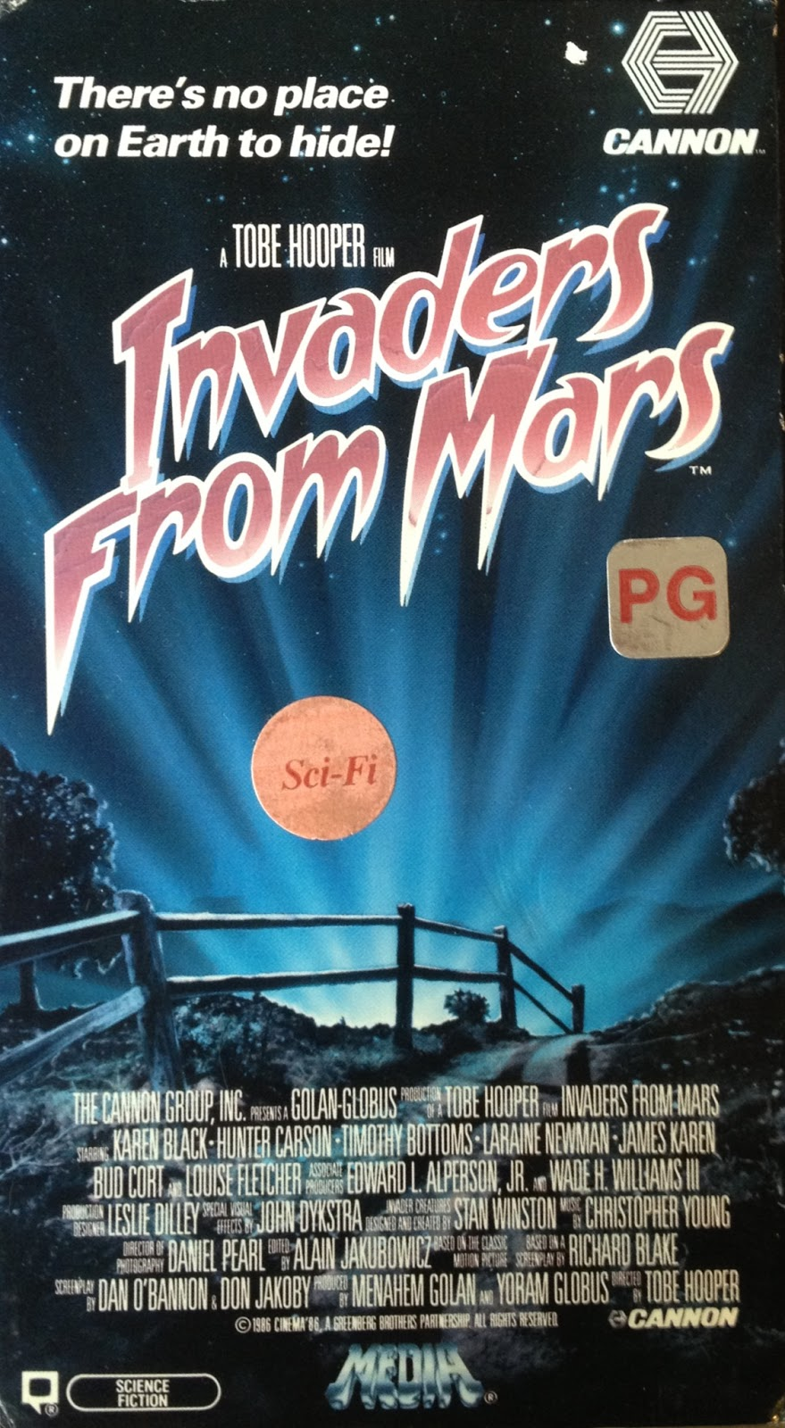 1986 Invaders From Mars Prob Film Brain Pics about space
