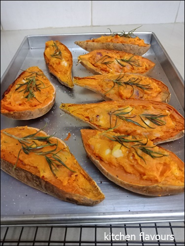 Kitchen Flavours Twice Baked Sweet Potatoes