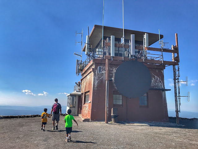 Fire lookout on Mt. Washburn