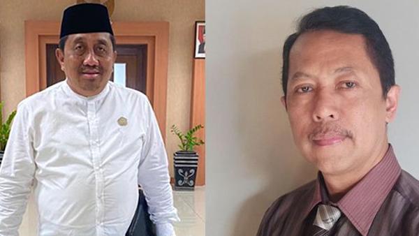 AKADEMISI: Rektor UTM Muh. Syarif dan Ketua STKIP PGRI Bangkalan Didik Hermanto.