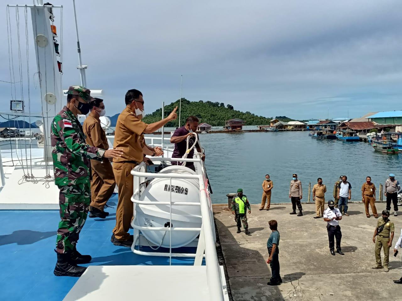 Bupati dan Wabup Natuna Kunker ke Kecamatan Pulau Tiga dan Pulau Tiga Barat