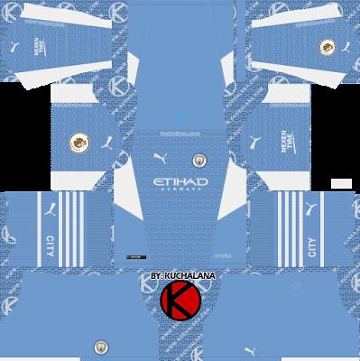 Bộ quần áo bóng đá của Manchester City 2021-22 - DLS2019