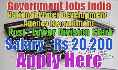 National Water Development Agency NWDA Recruitment 2017