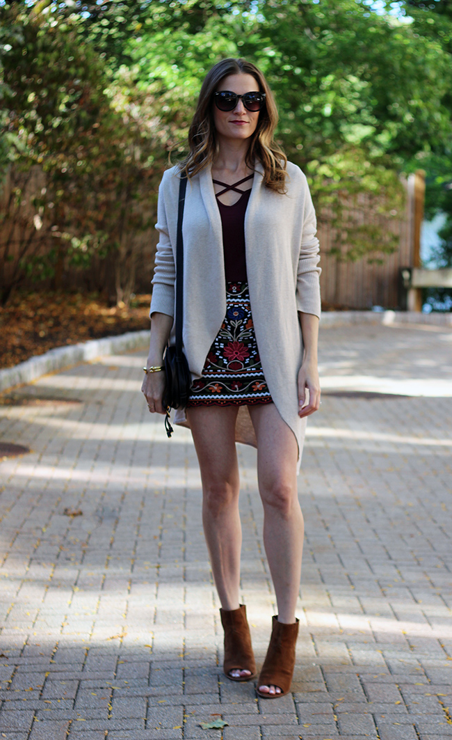 embroidered skirt for fall