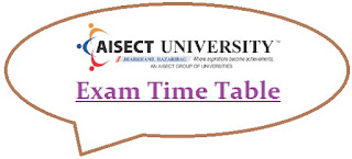 AISECT University Exam Date Sheet 2020