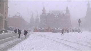 Tempête de neige record à Moscou