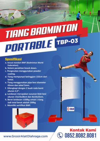tiang badminton portable tbp-03