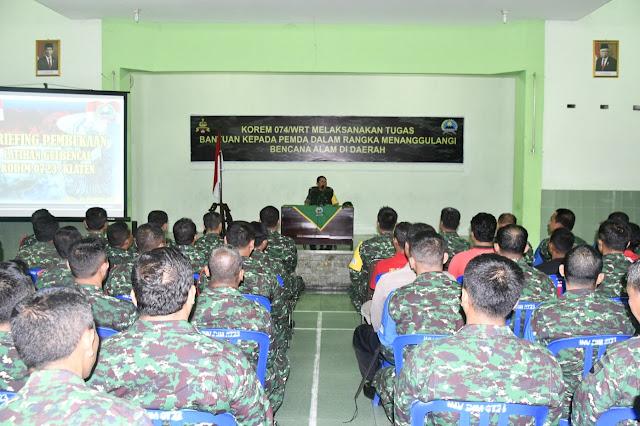 Breafing Pembukaan  Latihan Gulbencal di Kodim Klaten