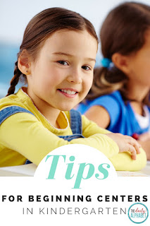 Tips for Beginning Centers in Kindergarten