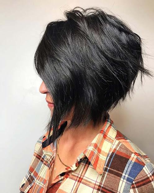 easy short stacked bob haircuts