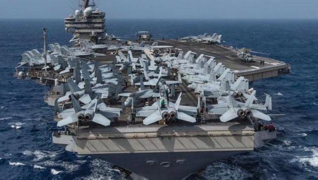 Duh! 3 Kapal Perang AS Masuk Pasifik, China Siaga Rudal