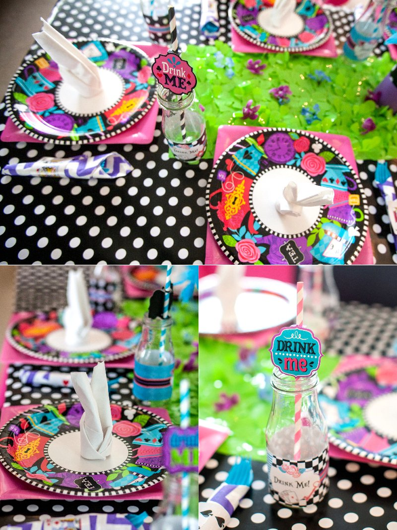 A Wonderland Birthday Mad Tea Party - Ideas on creative DIY decorations, fun party food, drinks, favors, party games and activities! via BirdsParty.com @birdsparty #wonderland #teaparty #madhatter #aliceinwonderland #birthdayparty #partyideas