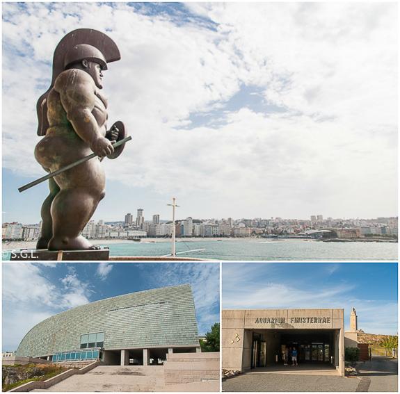 Domus, soldado romano de Botero y Aquarium. Visitar A Coruña en 2 dias