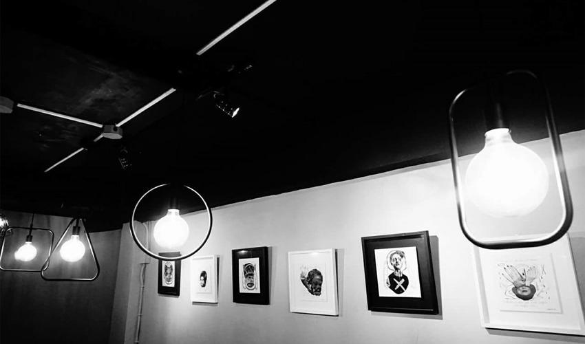 Artworks at Bad Diet Bar + Cafe