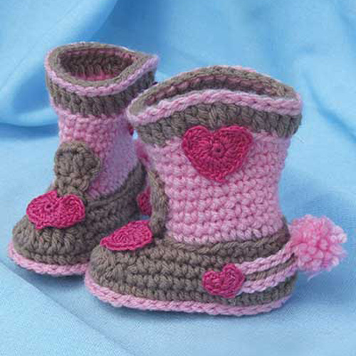 Rock-a-Billy Baby Boots - Crochet Pattern