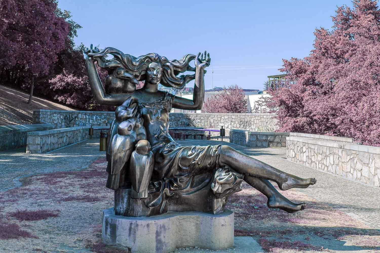 Bratislava Witch Bosorka Bronze Statue