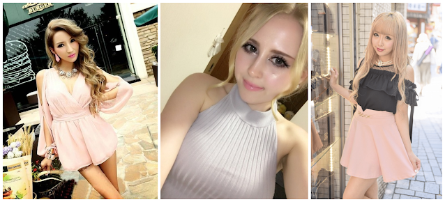 A small collage of Onee Gyaru inspired outfits