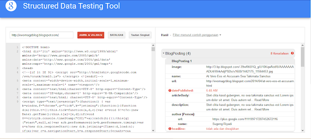 struktur data testing