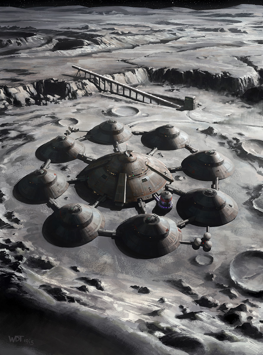 Nazi Moon base by Darren Tan