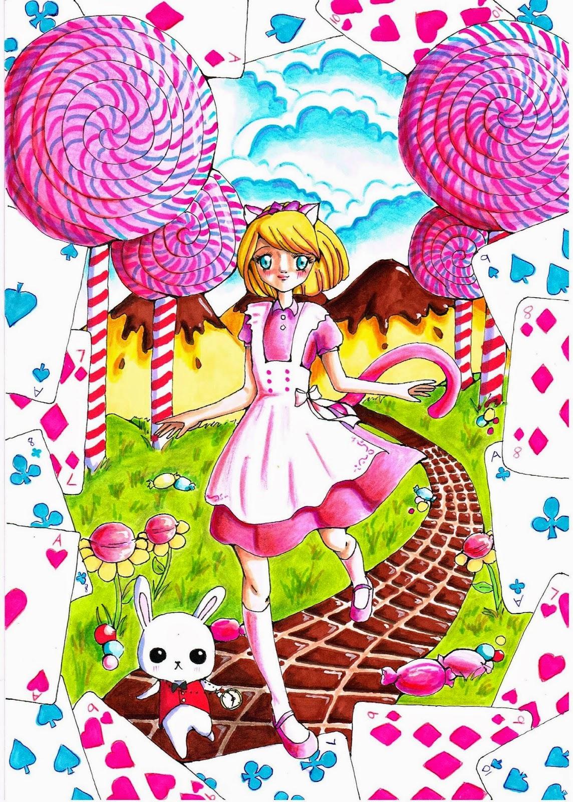 Wonderland Zeichnung
