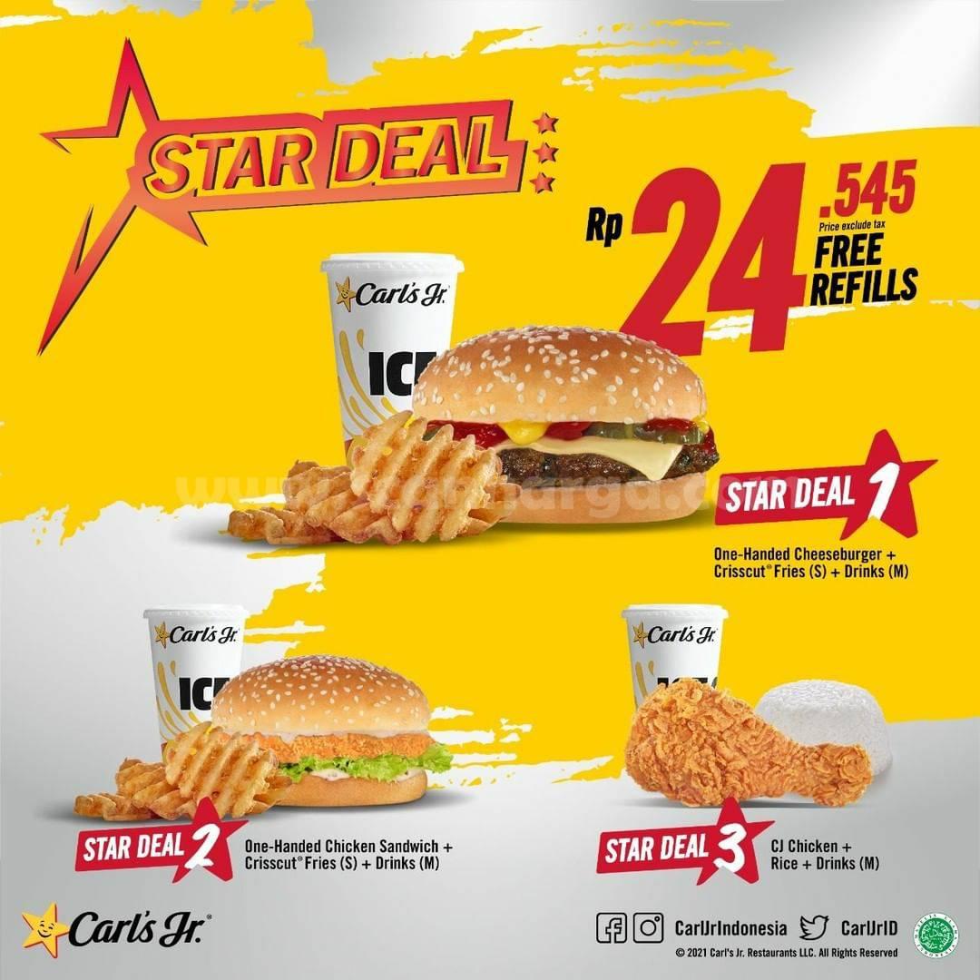 Carls Jr Star Deal harga Spesial cuma Rp 24 Ribuan per paket