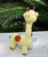 A Plush Toy Giraffe in Handmade Crochet
