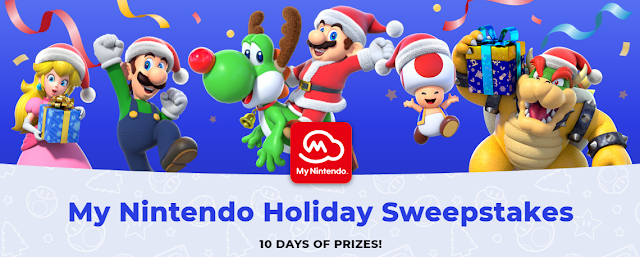 Nintendo is giving members a chance to enter daily to win awesome prize packages including Nintendo Switch consoles, controllers, cases and games!