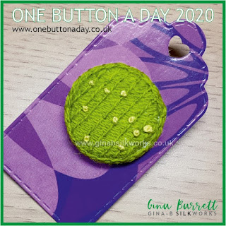One Button a Day 2020 by Gina Barrett - Day 60: Lawn