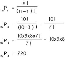 Contoh soal Permutasi pengambilan r unsur dari n unsur berbeda