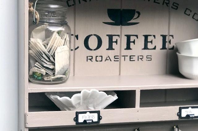 DIY Hanging Coffee Bar